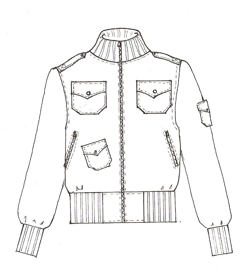 Bomber Jacket Sketch