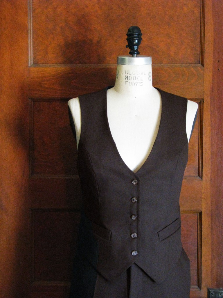 Women's Pant And Vest Suit