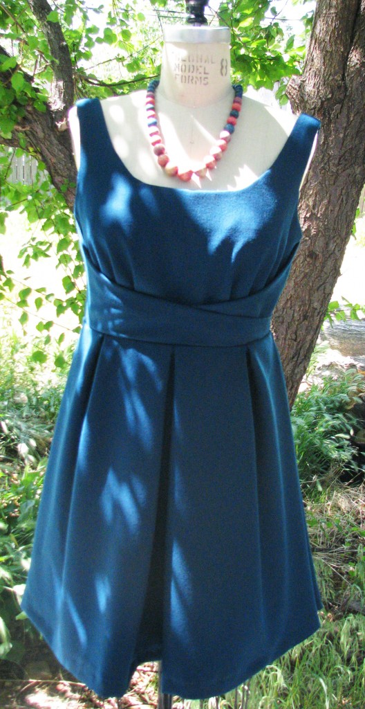 Wool Crepe 1950s Dress
