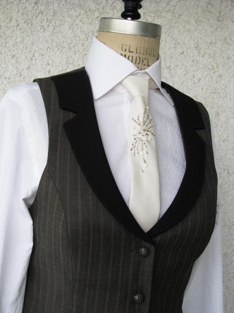 Women's Pinstripe Vest