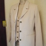 Women's ivory stripe suit