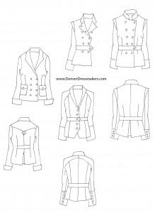 womens military blazers
