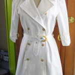 White cotton trenchcoat