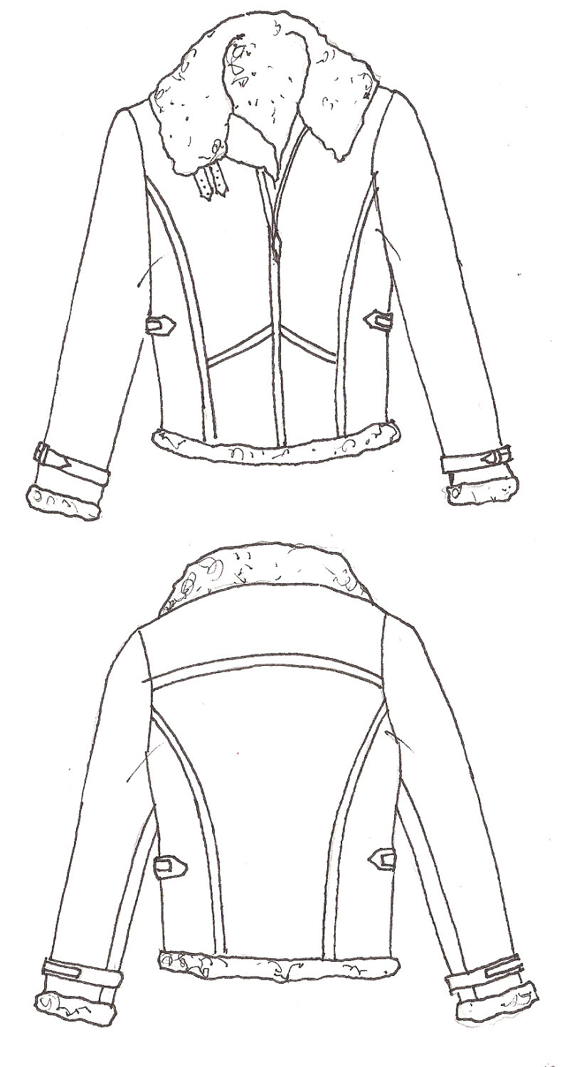 Line Drawing Jacket : Floral blazer coloring pages
