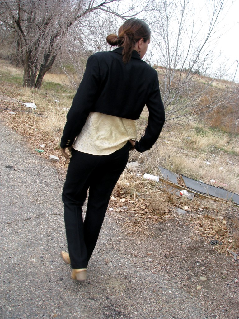 Women's Tuxedo From The Back