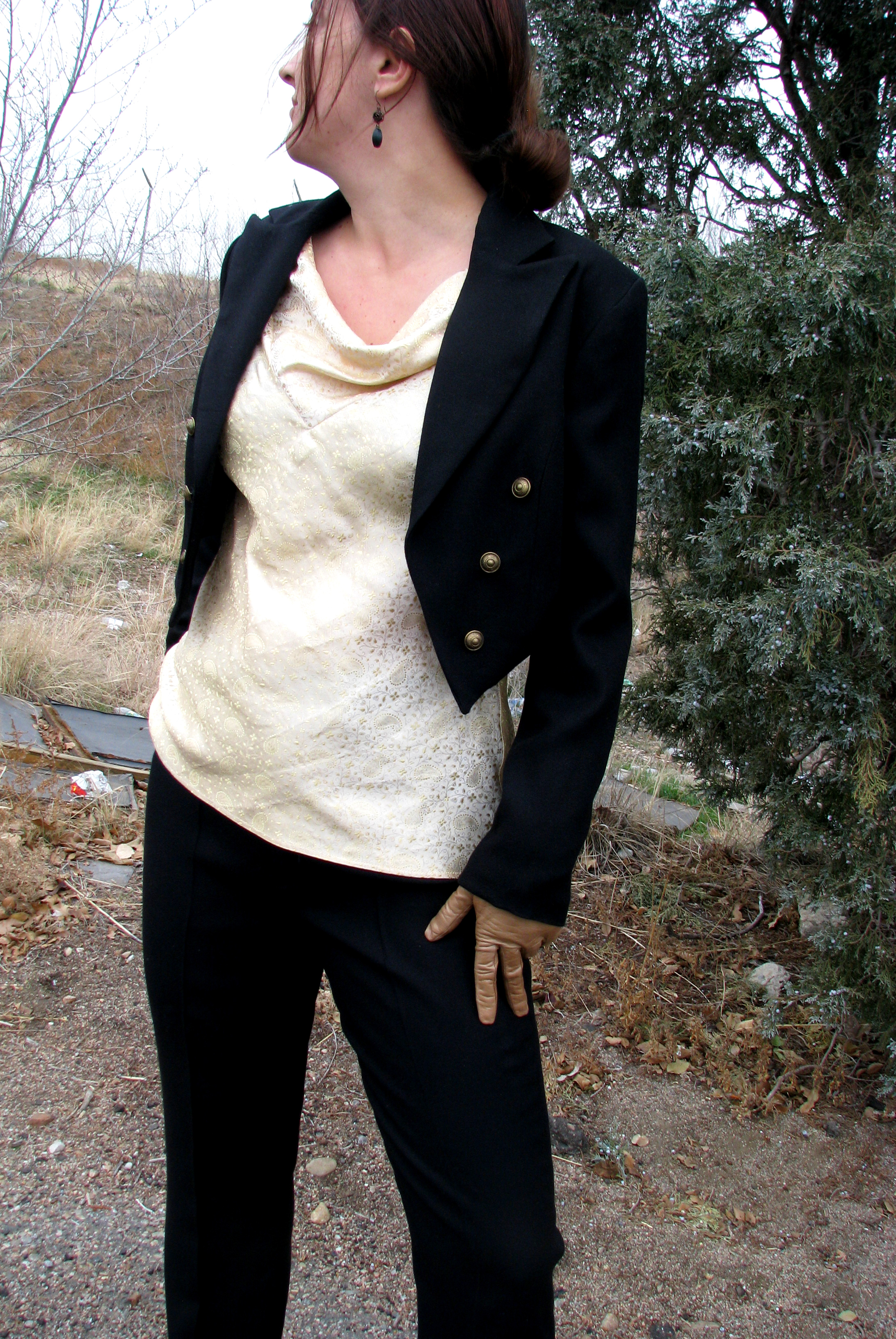 Womens Black Tuxedo Jacket