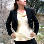 womens peak lapel jacket