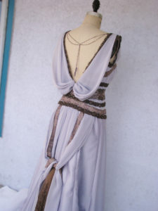 Lavender Art Deco Dress