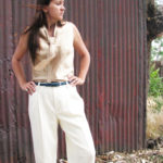 custom silk blouse