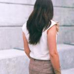 silk noil blouse