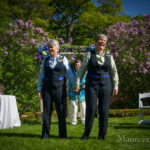 Navy Suits for Lesbian Wedding
