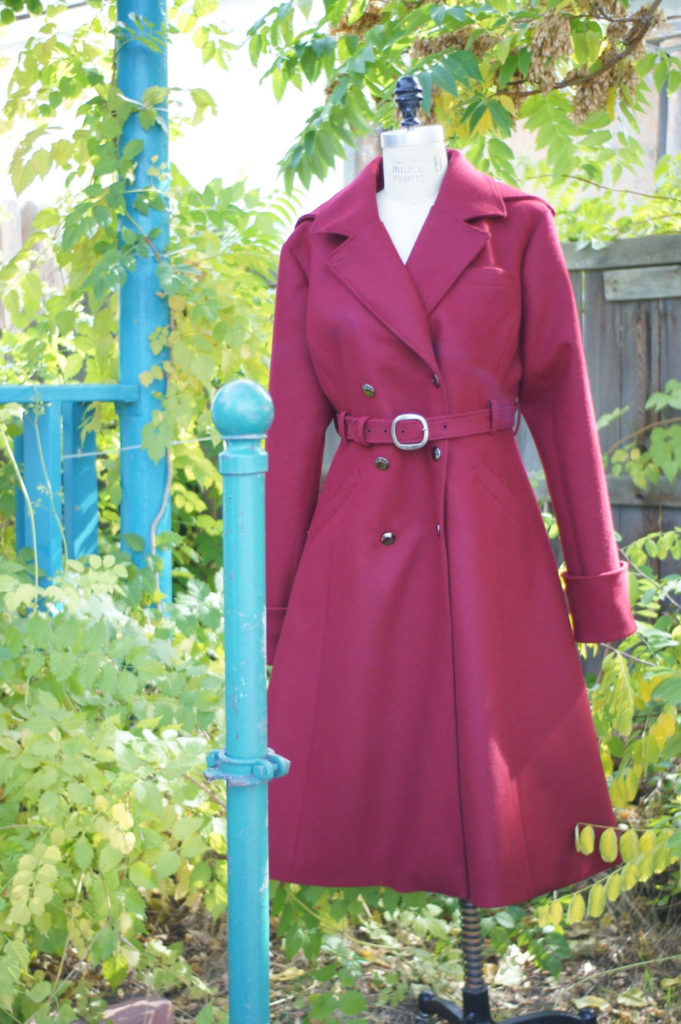 Wool Melton Trench Coat