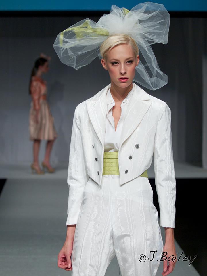 Moire Tuxedo with Silk Cummerbund and White Veil