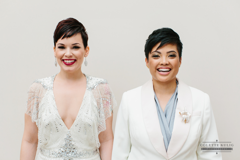 lesbian wedding suits | Denver Dressmakers