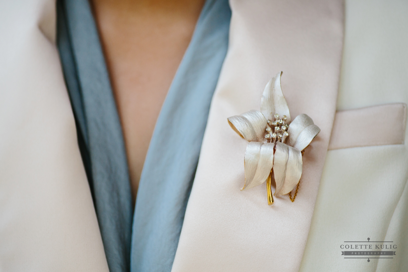 Corsage on Lesbian Tux