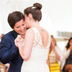 Lesbian wedding in tuxedo