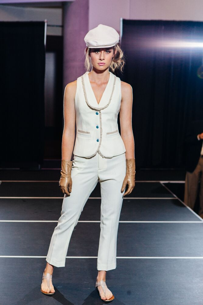 White Vest and Pant Suit