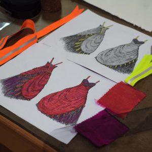 Beetle Wing Silk Dress